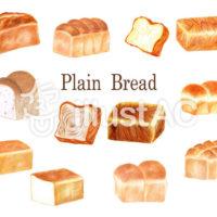 食パンの手描きイラスト素材