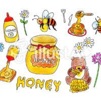 ハチミツに関するイラスト投稿中
